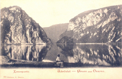 Orsova:Kazán szoros,részlet.1901
