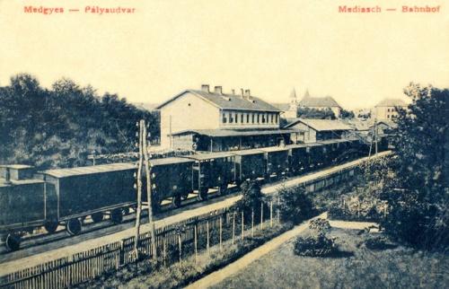 Medgyes:vasútállomás.1912