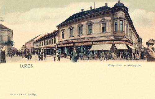 Lugos:Király utca,vas kereskedés.1903