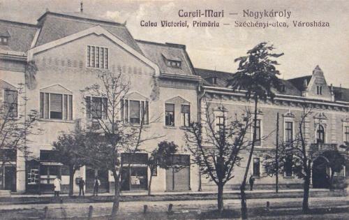 Nagykároly:Széchenyi utca,városháza.1928