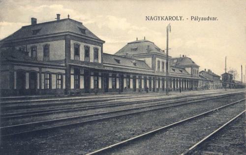 Nagykároly:vasútállomás.1912