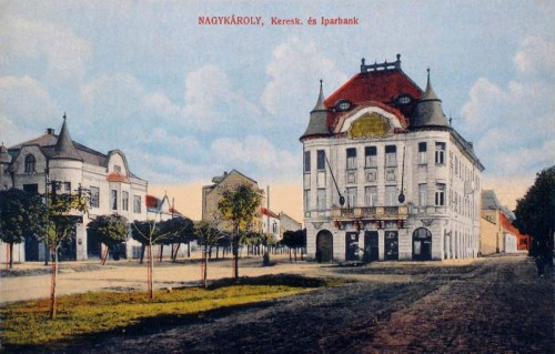 Nagykároly:Kereskedelmi és Iparbank.1913