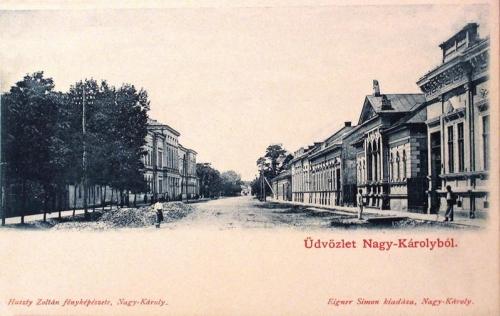 Nagykároly:utca részlet.1903