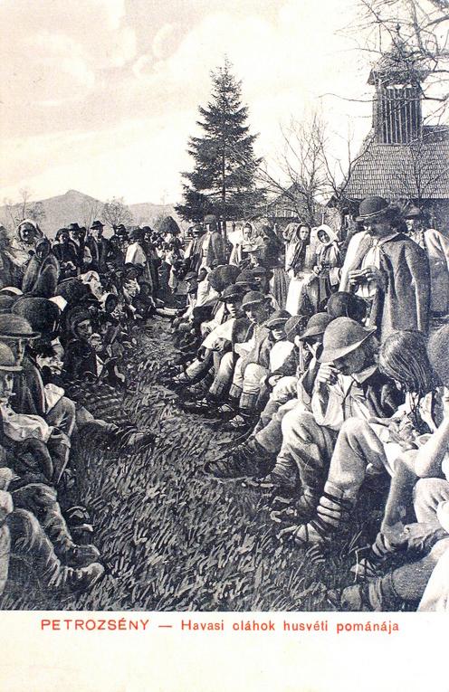 Petrozsény:havasi oláhok húsvéti pomana-ja.1907