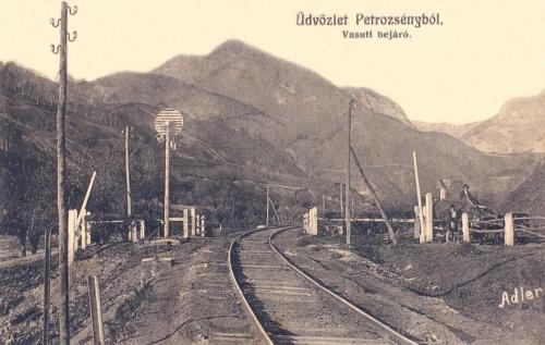 Petrozsény:vasúti bejáró.1914