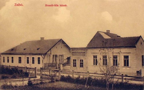 Zsibó:Brandt féle háza.1909