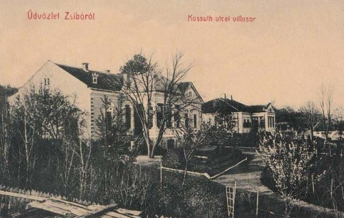 Zsibó:Kossuth utcai villasor.1909