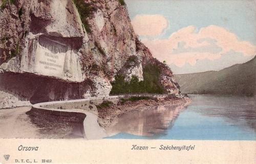 Kazán szoros:Széchenyi emléktábla.1902