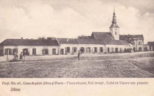 Zsibó:református templom és Takarékpénztár.1928