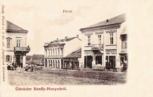 Bánffyhunyad-Heynod-Huedin:főtér.1901