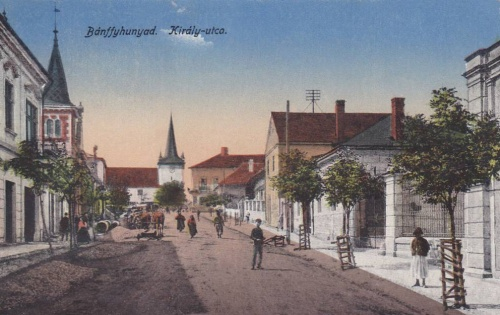 Bánffyhunyad:Király utca.1916