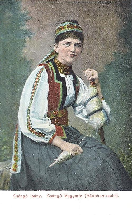 Gyimes:csángó magyar leány.1903