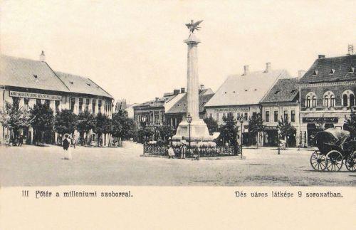 Dés:milleniumi szobor a Turul madárral,Kereskedelmi -és Polgári Bank.1904
