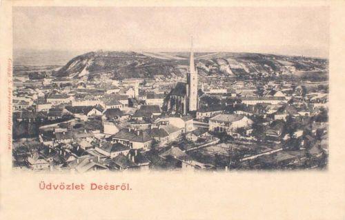 Dés:a város látképe.1902