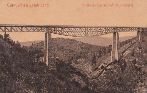Gyimes:Karakkói vasúti hid.1908