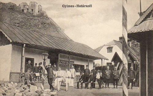 Gyimes:határ a Csillag (Steaua) malom liszt raktárával.1915