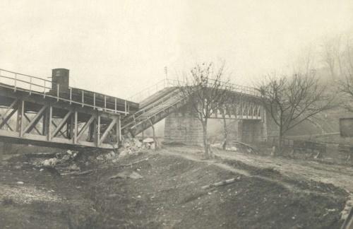 Gyimesbükk:felrobbantott hid,1916.