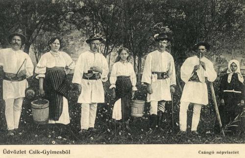 Gyimes:csángó népviselet,1906.
