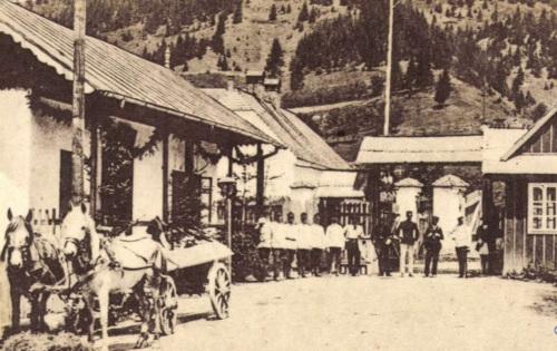 Gyimes:a határ román oldala,1918.