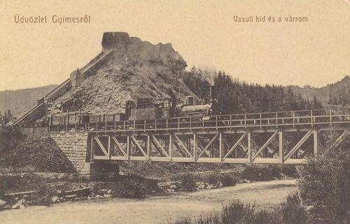 Gyimes:magyar-román határ és vasúti hid.1909