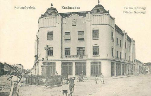 Karánsebes:Korongi palota a román kaszinóval.1915