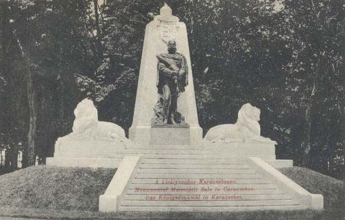 Karánsebes:Ferenc József szobra.1909