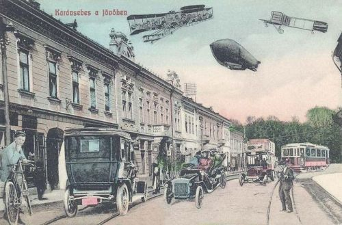 Karánsebes a jövőben,100 év múlva.1908