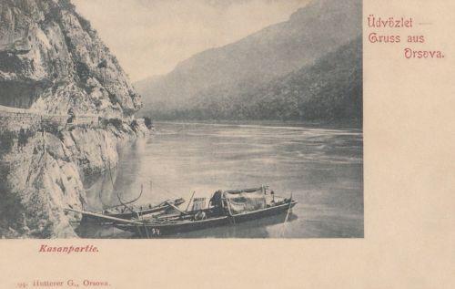Kazán szoros:halász csónak a Dunán.1903