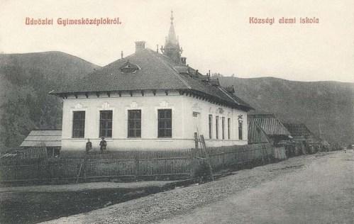 Gyimesközéplok:községi elemi iskola.1908