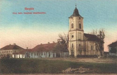Margitta:katolikus templom a főtéren.1909