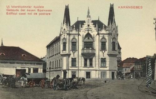 Karánsebes:új Takarékpénztár épülete.1911