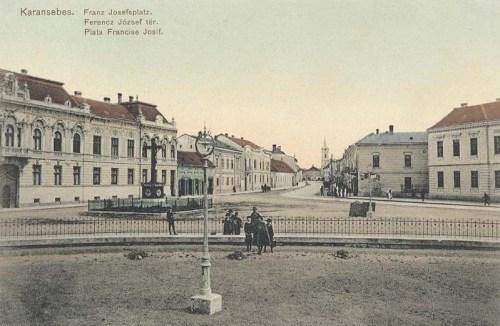 Karánsebes:Ferencz József tér.