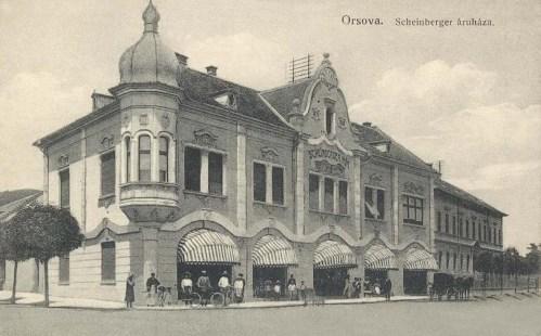Orsova:Scheinberger Mór áruháza.1911