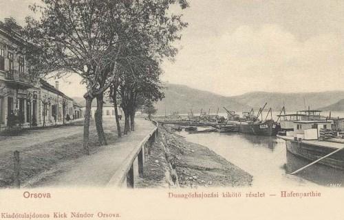 Orsova:Duna gőzhajózási kikötő.1903