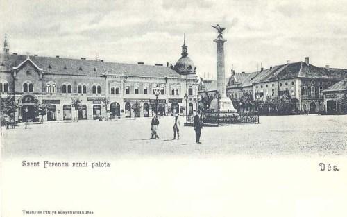 Dés:szent Ferencz rendi palota és milleniumi emlékmű.1904