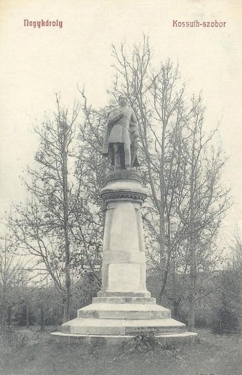 Nagykároly:Kossuth Lajos szobra.1911