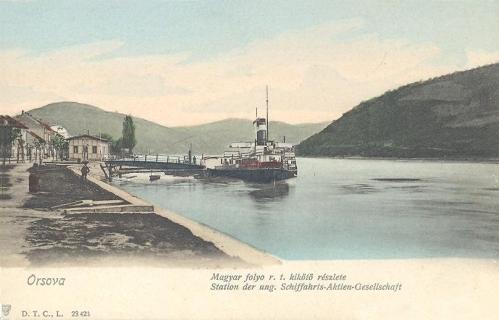 Orsova:Magyar Folyó RT,kikötő.1904