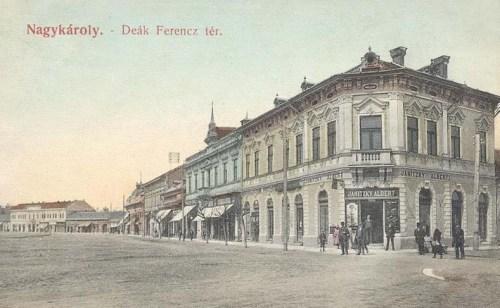 Nagykároly:Deák Ferencz tér.1909