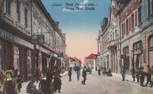 Lugos:Deák Ferencz utca.1916