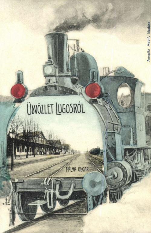 Lugos:pályaudvar,1906.
