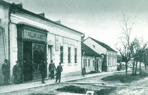 Margitta:Fő utca,Pollák Lajos üzlete,1908