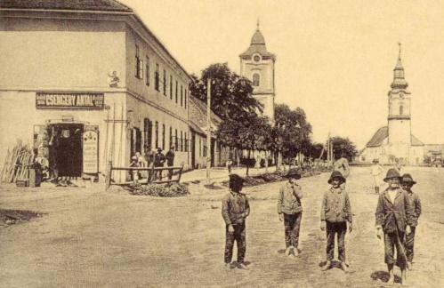 Csengery Antal üzlete,alapitva 1856-ban,lőpor,szesz,marhasó eladás.1908
