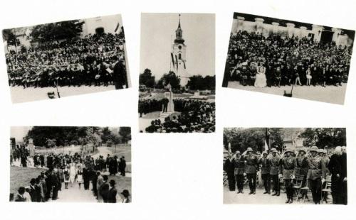 Margitta:országzászló avatási ünnepsége,1941-ben.
