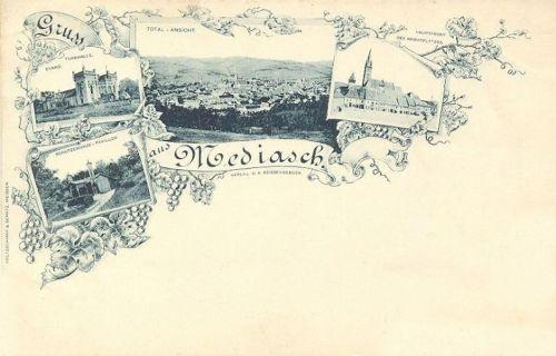 Medgyes-Mediasch-Medias:piac,tornacsarnok,pavilon.1897