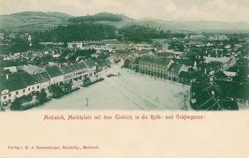 Medgyes:látkép a Roth és utcákkal.1902