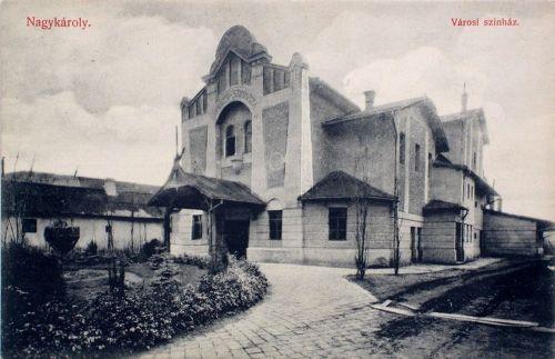Nagykároly:városi szinház.1909