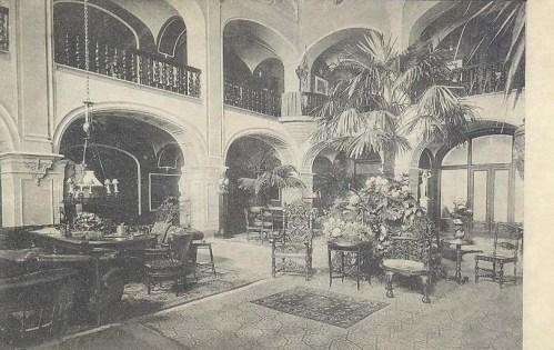 Nagykároly:kastély belseje.1909