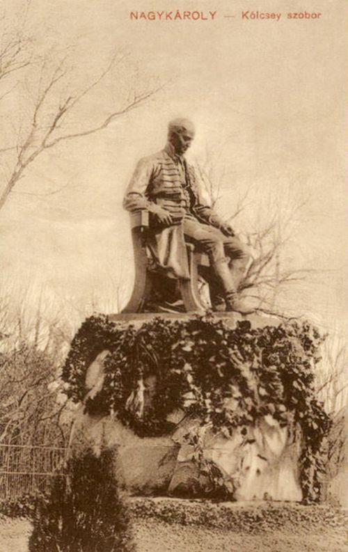 Nagykároly:Kölcsey szobor.1911