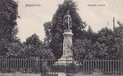 Nagykároly:Kossuth szobor.1912