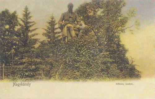 Nagykároly-Grosskarol-Carei:Kölcsey Ferenc szobra.1905